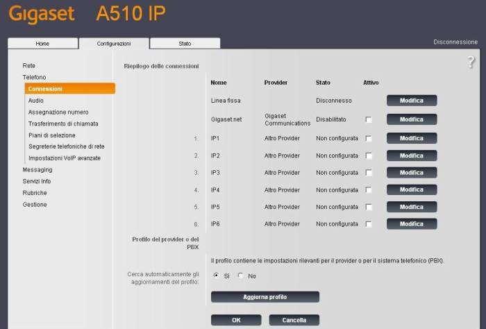 configurazione gigaset a510ip 6